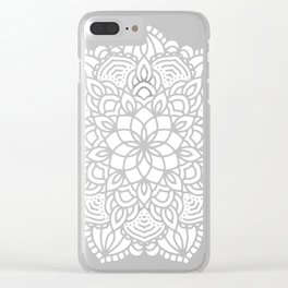 Mandala Mermaid Sea Pink by Nature Magick Clear iPhone Case