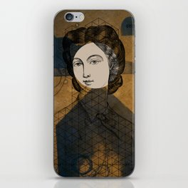 Coiffure for a young lady iPhone Skin