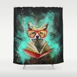 Fox Reader Shower Curtain