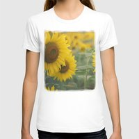 sunflowers T-shirts featuring Sunflowers by Michelle Lauren Steinberg