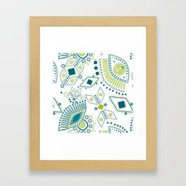 Ethnic pattern . Eye 2 . Framed Art Print