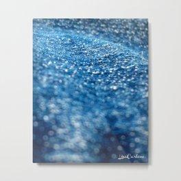 Denim Wave Metal Print