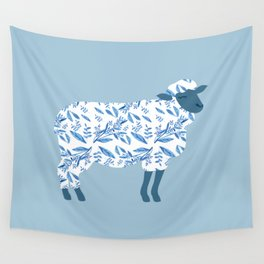 Sheep made of floral pattern Wall Tapestry