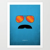 tom selleck Art Prints featuring MAGNUM (Tom Selleck) by Alberto Lamote de Grignon