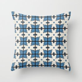 Seaside Tile Throw Pillow