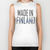 finland Biker Tanks featuring Made In Finland by VirgoSpice