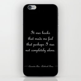 Not completely alone - Will Herondale BLACK iPhone Skin