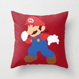 Mario(Smash) Throw Pillow