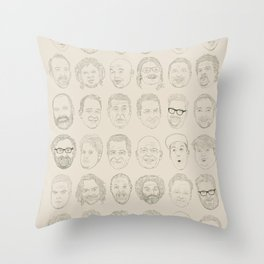 36 Funny People Throw Pillow