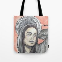 oitnb Tote Bags featuring Pennsatucky OITNB by Ashley Rowe