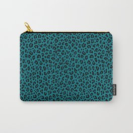 TEAL LEOPARD PRINT – Teal Blue | Collection : Punk Rock Animal Prints. Carry-All Pouch