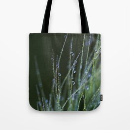 dew drops in abstract Tote Bag