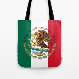 Mexican flag augmented scale with Coat of Arms Tote Bag