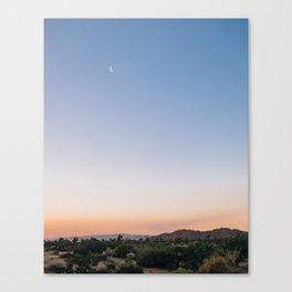 Harvest Moon and Desert Sky 2 Canvas Print