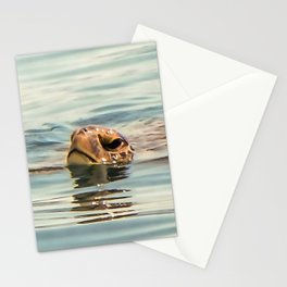Head Above Water Loggerhead Turtle Stationery Cards