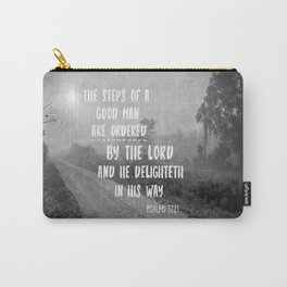Steps of a Good Man Bible Verse Carry-All Pouch