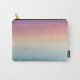 Modern watercolor navy blue pink sunset pattern Carry-All Pouch