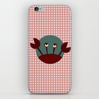 crab iPhone & iPod Skins featuring Crab by Mr and Mrs Quirynen