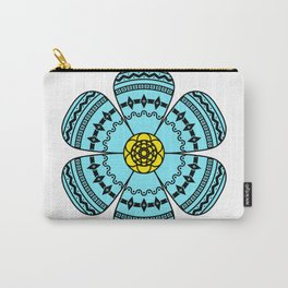 Hippie Geometric Flower Carry-All Pouch