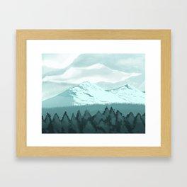 Icy Mountain Speedpaint Framed Art Print