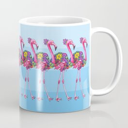 A Small Flock of Flamingos Coffee Mug