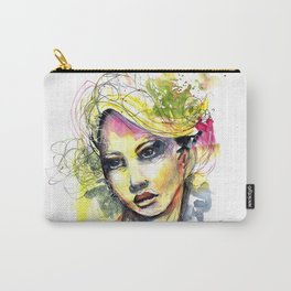 Abstract watercolor portrait Carry-All Pouch
