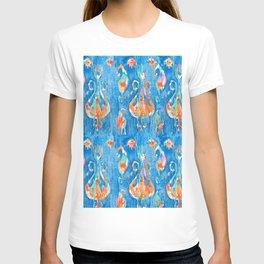 electric blue balinese ikat mini T-shirt