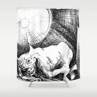 bull Shower Curtains featuring Bull by Pérola M. Bonfanti