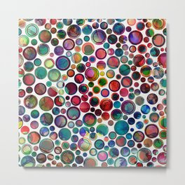 Dots on Painted Background 2 Metal Print