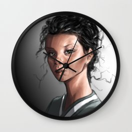 Mulatto girl Wall Clock