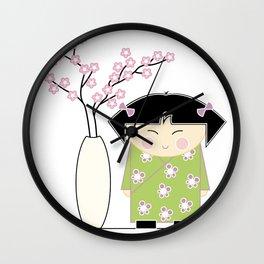 Little Asian Girl Wall Clock