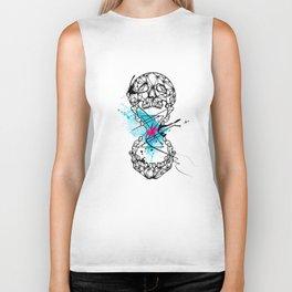 Abstract skull Biker Tank
