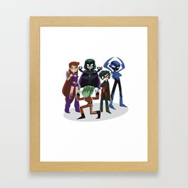 Teen Titans Framed Art Print