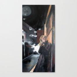 Smoking Woman Canvas Print