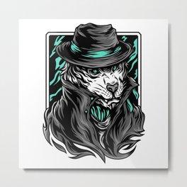 Mafia Tiger Metal Print
