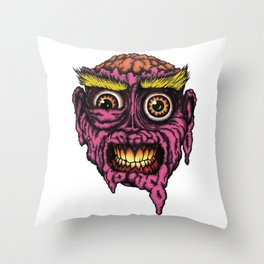 GROATY BRAIN Throw Pillow