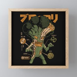 Broccozilla X-ray Framed Mini Art Print