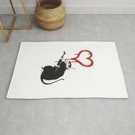 Love rat - Banksy Graffit Rug