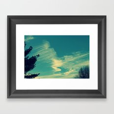 Happy Blue Sky Framed Art Print