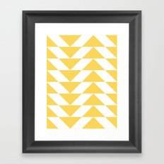 Yellow Triangle Framed Art Print