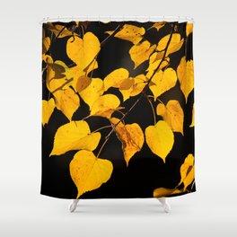 Autumn Foliage Yellow Leaves #decor #buyart #society6 Shower Curtain