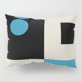 Abstract in Blue, Black, Red and Beige. See Companion Piece Pillow Sham