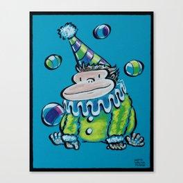 Circus Clown Ape Canvas Print