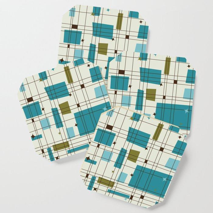 Mid-Century Modern (teal) Coaster
