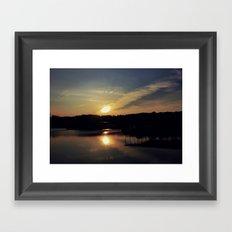 Sunset, Lake lanier Framed Art Print