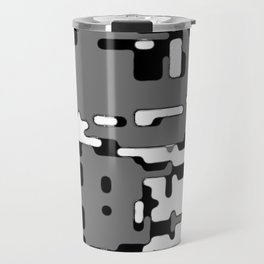 jitter, b&w 8 Travel Mug