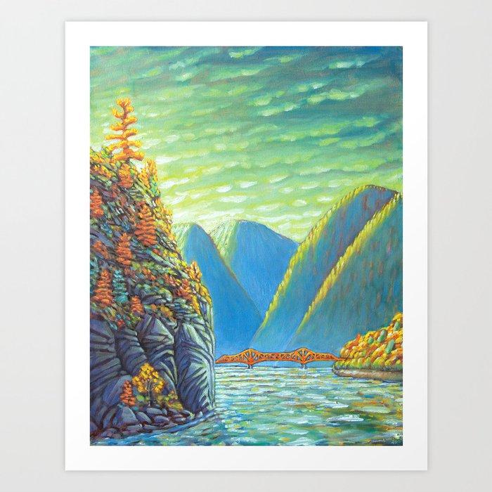 Nelson Lakeview Art Print