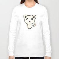 kawaii Long Sleeve T-shirts featuring Kawaii Cat by Nir P