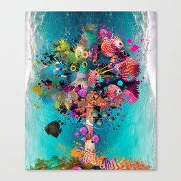Surfing Palm Canvas Print
