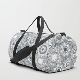 mandala cirque metal white Duffle Bag